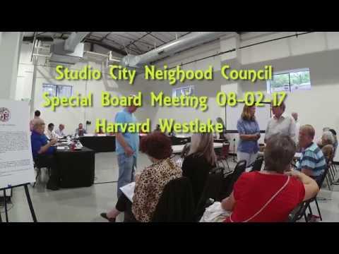 SCNC Special Board Meeting Harvard Westlake 08 02 17_