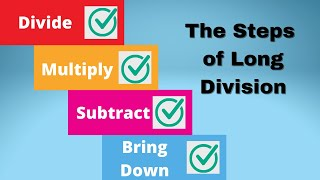Steps Of Long Division Dad Mom Sister Brother