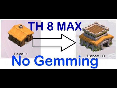 COC [slow] Time-Lapse Video TH1 To TH8 MAX – No Gemming