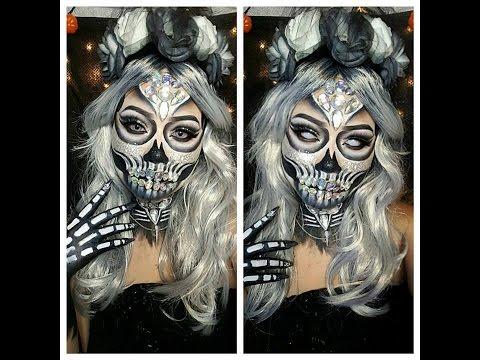 glitter-jewel-skull-makeup-tutorial---vic-brocca-inspired.