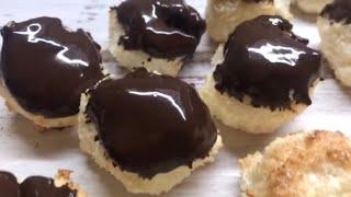Американское Кокосовое печенье (COCONUT MAKAROONS) видео рецепт!