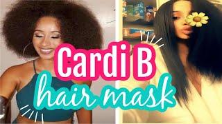 CARDI B HAIR MASK: HAIR MASK FOR HAIR GROWTH RECIPE