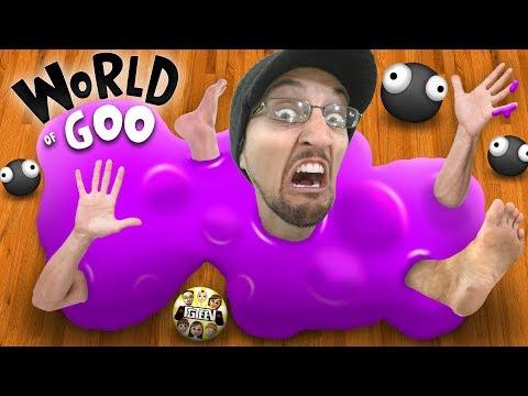 SLIME Comes ALIVE!  RUN!!!  (FGTEEV World Of Goo Gameplay / Skit)