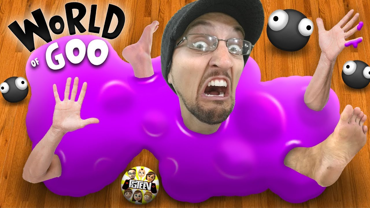 SLIME comes ALIVE!  RUN!!!  (FGTEEV World of Goo Gameplay / Skit)