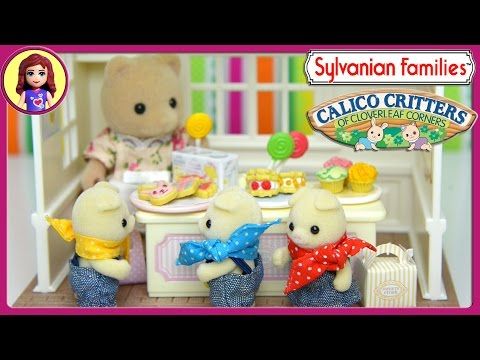 Sylvanian Families Calico Critters Sweets Store Bakery Unboxing Review and Play - Kids Toys