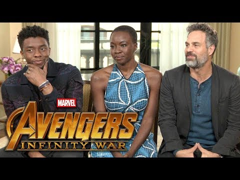 'Avengers: Infinity War': Chadwick Boseman, Mark Ruffalo and Danai Gurira (FULL INTERVIEW)