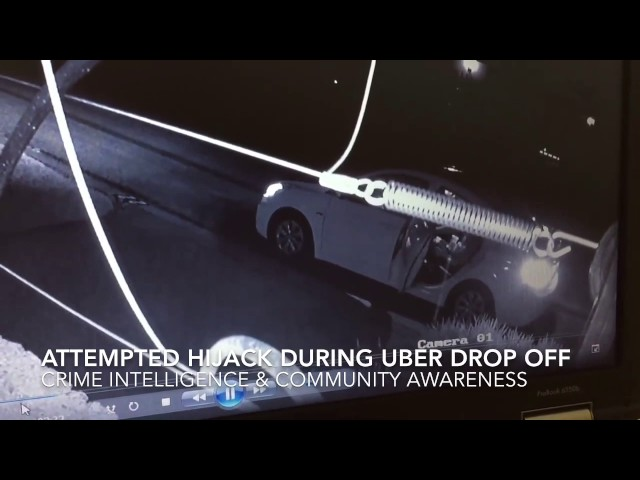 Attempted hijacking / armed robbery during Uber drop off in Johannesburg South Africa