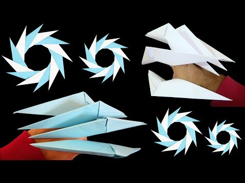 Origami Easy - How to make Dragon Claws & Paper Ninja Star (EASY TUTORIAL)