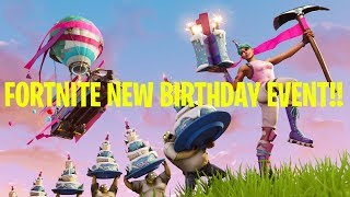 FORTNITE 1ST BIRTHDAY CELEBRATION? NEW FORTNITE BACKBLING + SKIN
