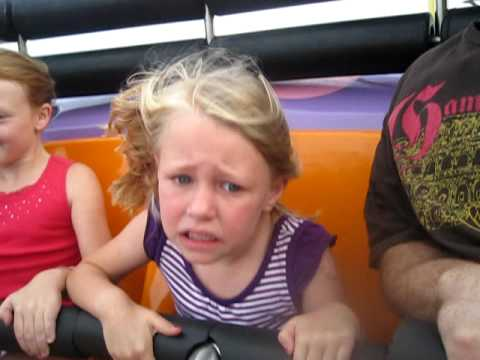 Scared little girl on roller coaster at tn state fair 2009 youtube