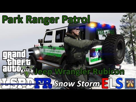 Severe Blizzard Snow Storm - ELS Jeep Wrangler Rubicon Park Ranger Patrol GTA 5 LSPDFR Episode 176