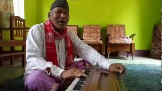 "Gitashree Ramchiary Father Singing ""Bistir Noparore"" of Bhupen Hazarika"