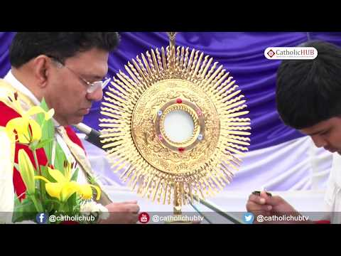 """Adarestion & Healing Service by Rev Fr  Augusthine @ """"DIVINE MERCY CONVENTION"""" Holy Masss@ Our Lady"""