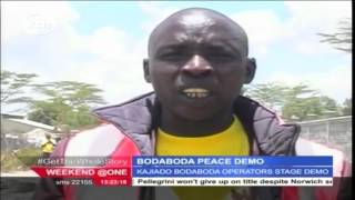 Boda Boda operators hold peaceful procession in Kitengele calling for peace ahead of 2017 elections