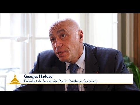 Message de Georges Haddad - Président de l'université Paris 1 Panthéon-Sorbonne
