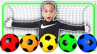Learn Colors With Soccer Balls | Family Finger Song For Kids & Children & Nursery Rhymes