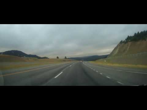 Driving on Interstate 90 from Bozeman, Montana to Laurel, MT
