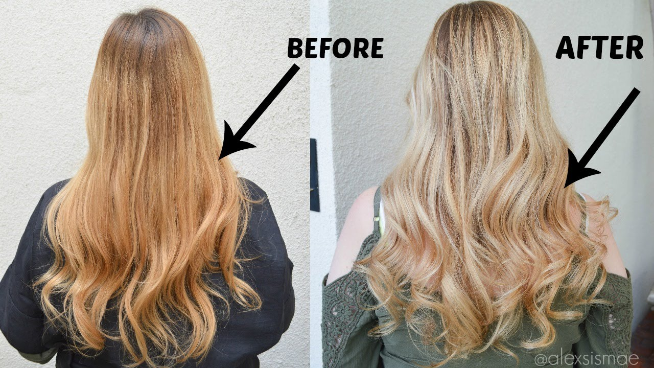 How To Neutralize Brassy Hair To A Gorgeous Blonde Youtube