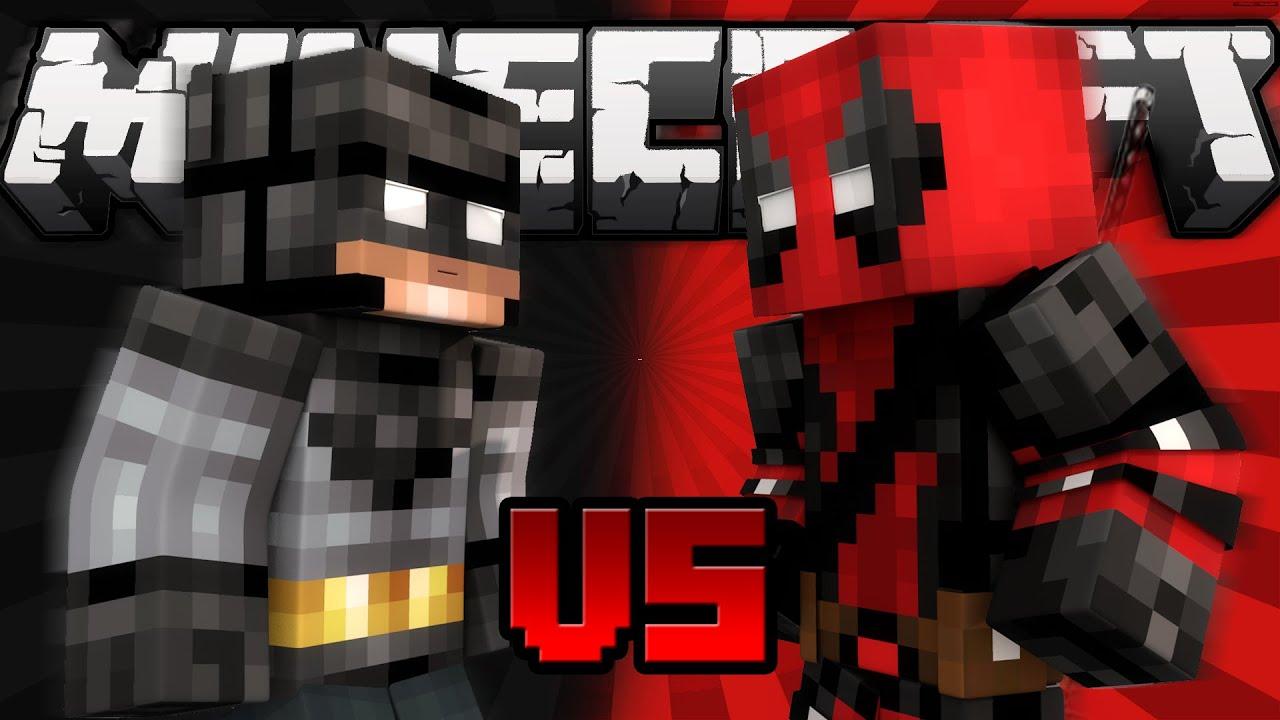 batman vs deadpool the superhero battle minecraft machinima