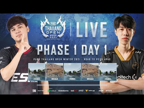 🔴Live สด! PUBG THAILAND OPEN WINTER 2021 : Road to PCS5 APAC   PHASE 1 DAY 1