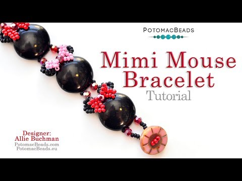 Mimi Mouse Bracelet - DIY Jewelry Making Tutorial By PotomacBeads