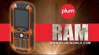 Plum RAM Rugged Unlocked Phone IP 67 Certified Water / Shock / Dust Proof