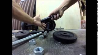 Como fazer um halteres barato!