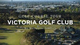 Flyover of The Victoria Golf Club, Melbourne Sandbelt, Victoria, Australia
