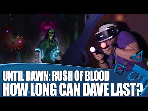 Until Dawn: Rush of Blood PlayStation VR Gameplay - How Long Can Dave Last?