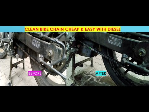 HOW TO CLEAN BIKE CHAIN EASILY IN 5 MINS|CHEAP WAY