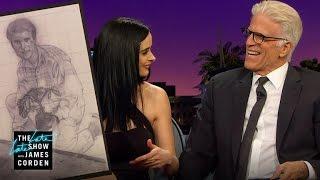Ted Danson & Krysten Ritter Examine Fan Art