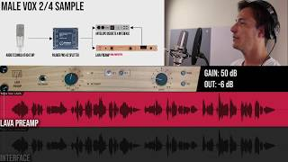 TIERRA Audio LAVA Preamp | MALE VOX Samples