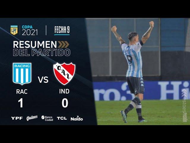 Copa De La Liga | Fecha 9 | resumen de Racing - Independiente