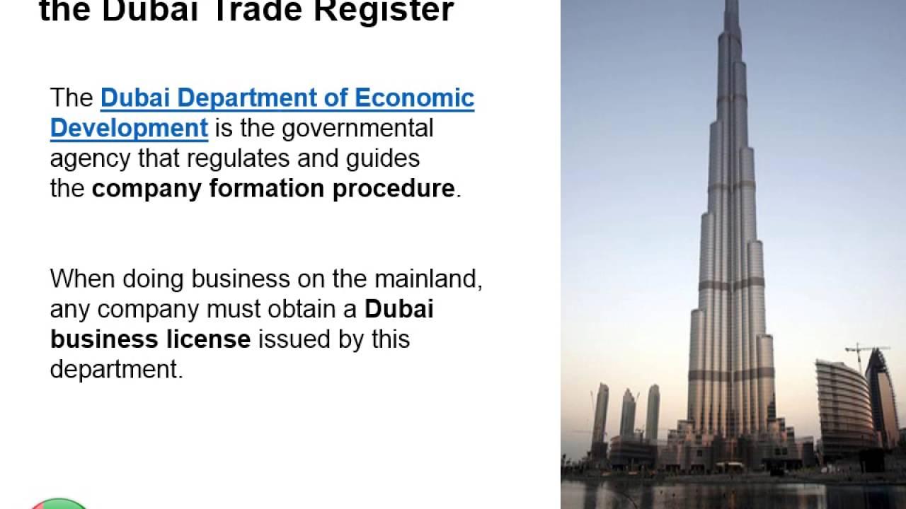 Trade Register in Dubai