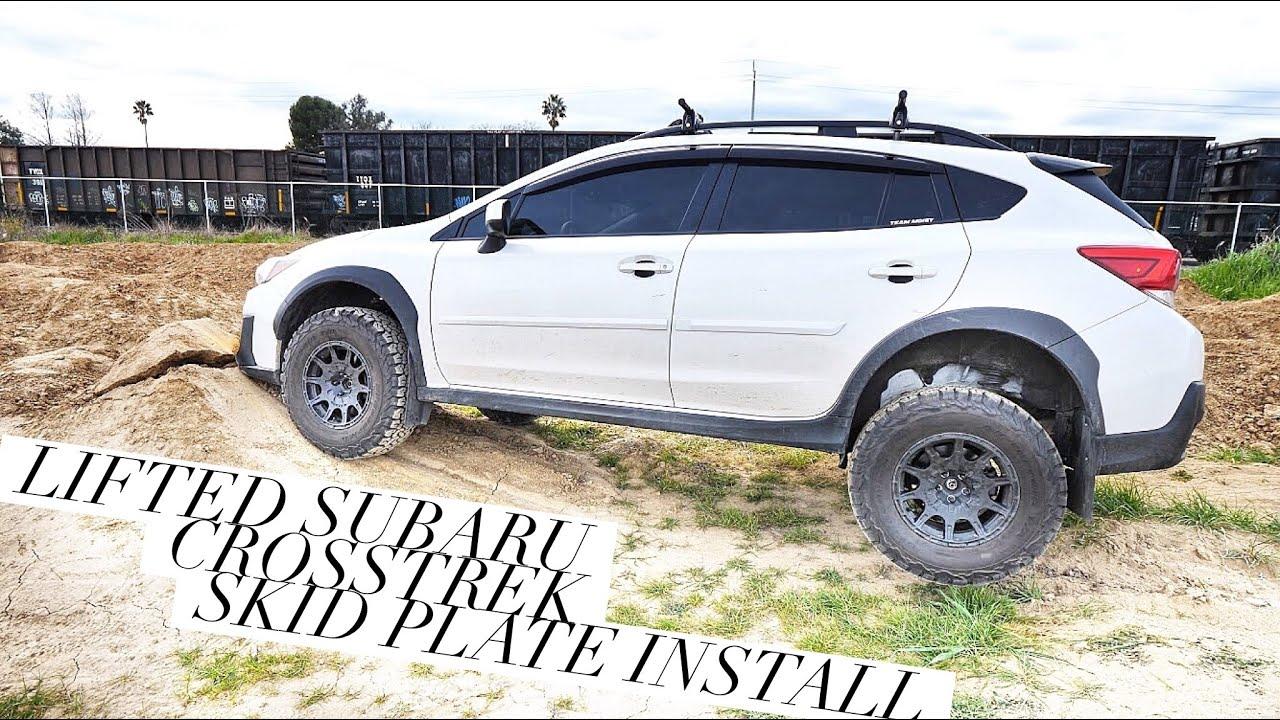 LIFTED 2018 Subaru Crosstrek SKID PLATE INSTALL [4K]