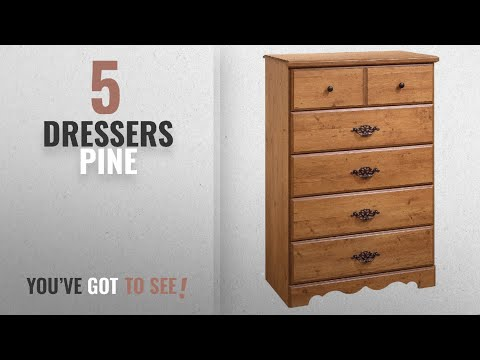 Top 10 Dressers Pine [2018]: Prairie Collection 5-Drawer Chest - Country Pine Finish by South Shore