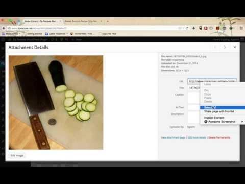 Adding images to you recipe using Zip Recipes WordPress Plugin
