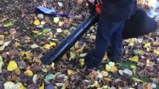 Black & Decker leaf blower demonstration
