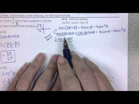 5.3 double angle, power reducing, and half angle formulas