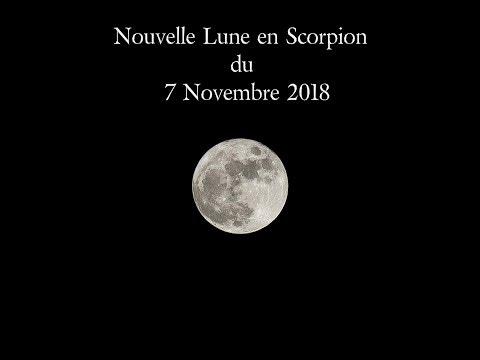 Nouvelle Lune du 07 novembre 2018 à 17h02