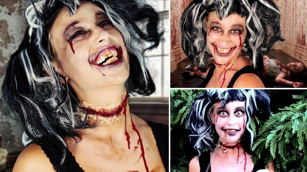 maquillage halloween le mort vivant zombie makeup. Black Bedroom Furniture Sets. Home Design Ideas
