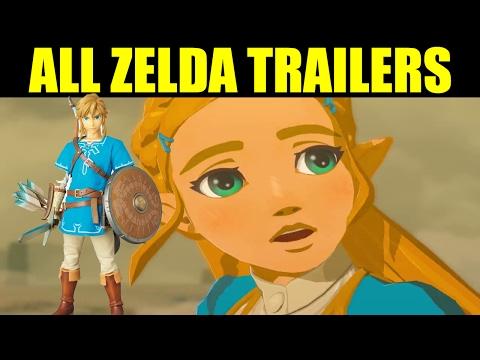 ALL Legend of Zelda Breath of the Wild Trailers - Nintendo Wii U/Nintendo Switch 2014-2017