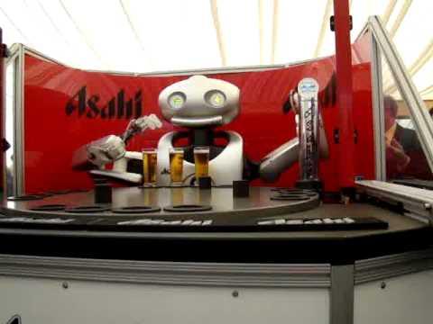 Asahi Robot Beer Dispenser - YouTube