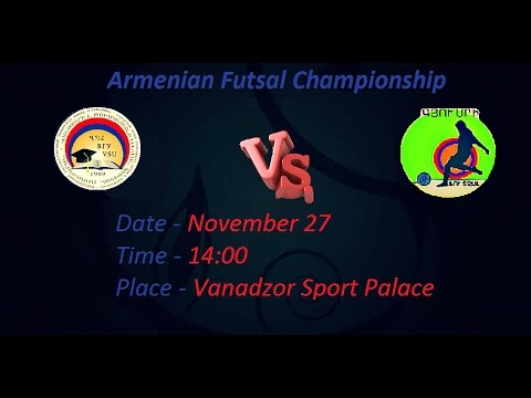 VSU 14 -- 8 Gyumri (Armenian Futsal Championship) 27/11/2016