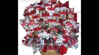 Romantic In Red Gourmet Chocolate Candy Bouquet