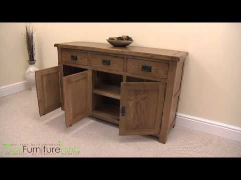 Cotswold Rustic Solid Oak Large Sideboard