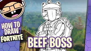 How to Draw BEEF BOSS (Fortnite: Battle Royale) | Narrated Easy Step-by-Step Tutorial