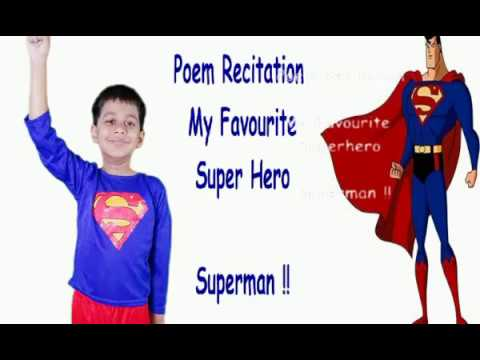 "SUPERHERO FANCYDRESS | English Poem Recitation Class 1 - Class 2 ""MY FAVOURITE SUPERHERO - SUPERMAN"""