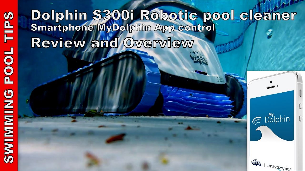 dolphin s300i robotic pool cleaner by maytronics smartphone mydolphin app control - Dolphin Pool Cleaner