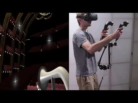 Haptic Links: Bimanual Haptics for virtual reality using variable stiffness Actuation